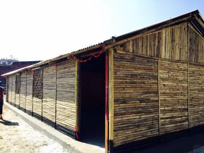 カトマンズで視察した竹の学校 2015.10.9
