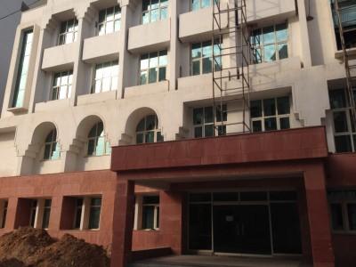 新しく建設中の病院