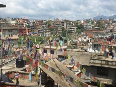 チベット人居住区のルンタ