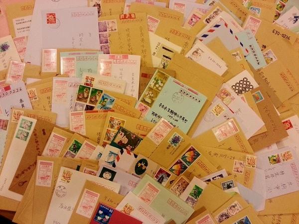 インドルピー緊急募金に届いた封書の数々の写真