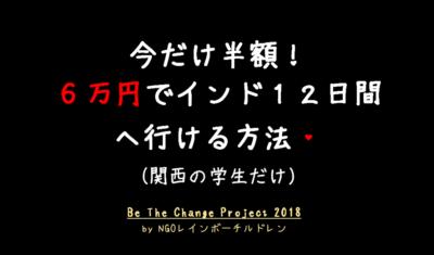 今だけ!6万円でインド12日間に行けるチャンス!