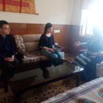ダラムシャーラ旅行記②教育省訪問(駐在ボランティア三輪)